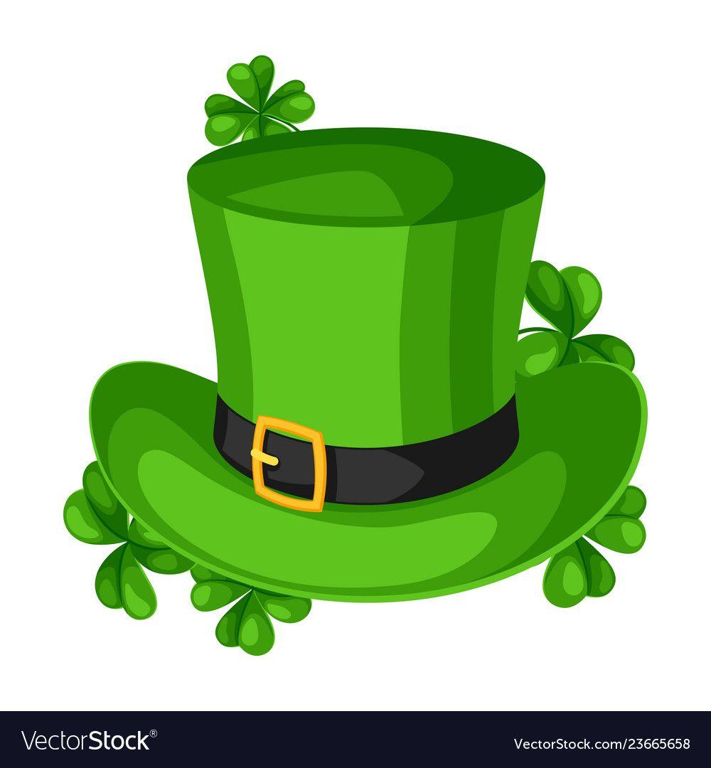 Saint Patricks Day Illustration Leprechaun Hat With Clover Irish Festive National Items Download A Free Preview O In 2021 Leprechaun Hats St Patricks Day Leprechaun