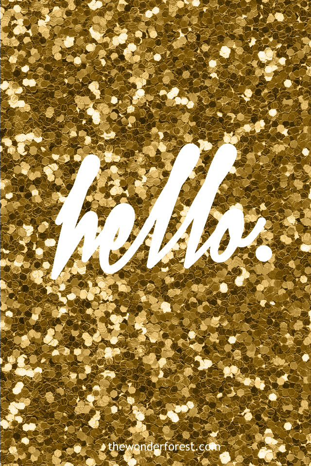 Glitter Gold 10 Ways To Glam A Phone Ipod Wallpaper Glitter Wallpaper Hello Wallpaper