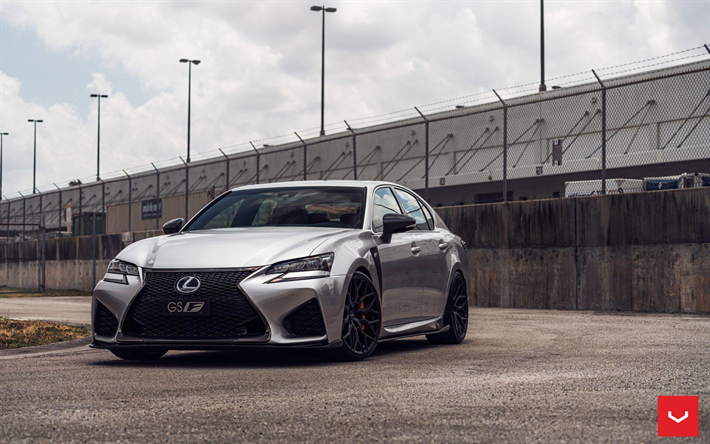 Download Wallpapers Lexus Gs F Tuning 2018 Cars Vossen Wheels Hf 2 Tunned Gs F Lexus Besthqwallpapers Com Vossen Wheels Lexus Vossen