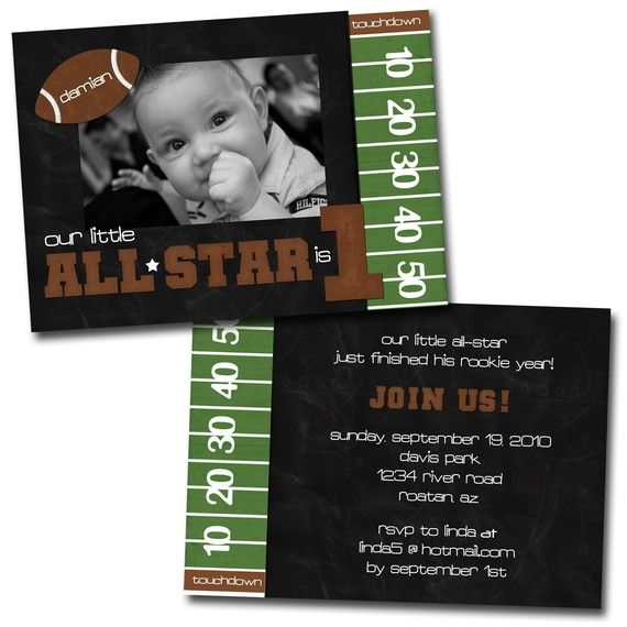 Our little Rookie Football Invitation by designink on Etsy, $44.00