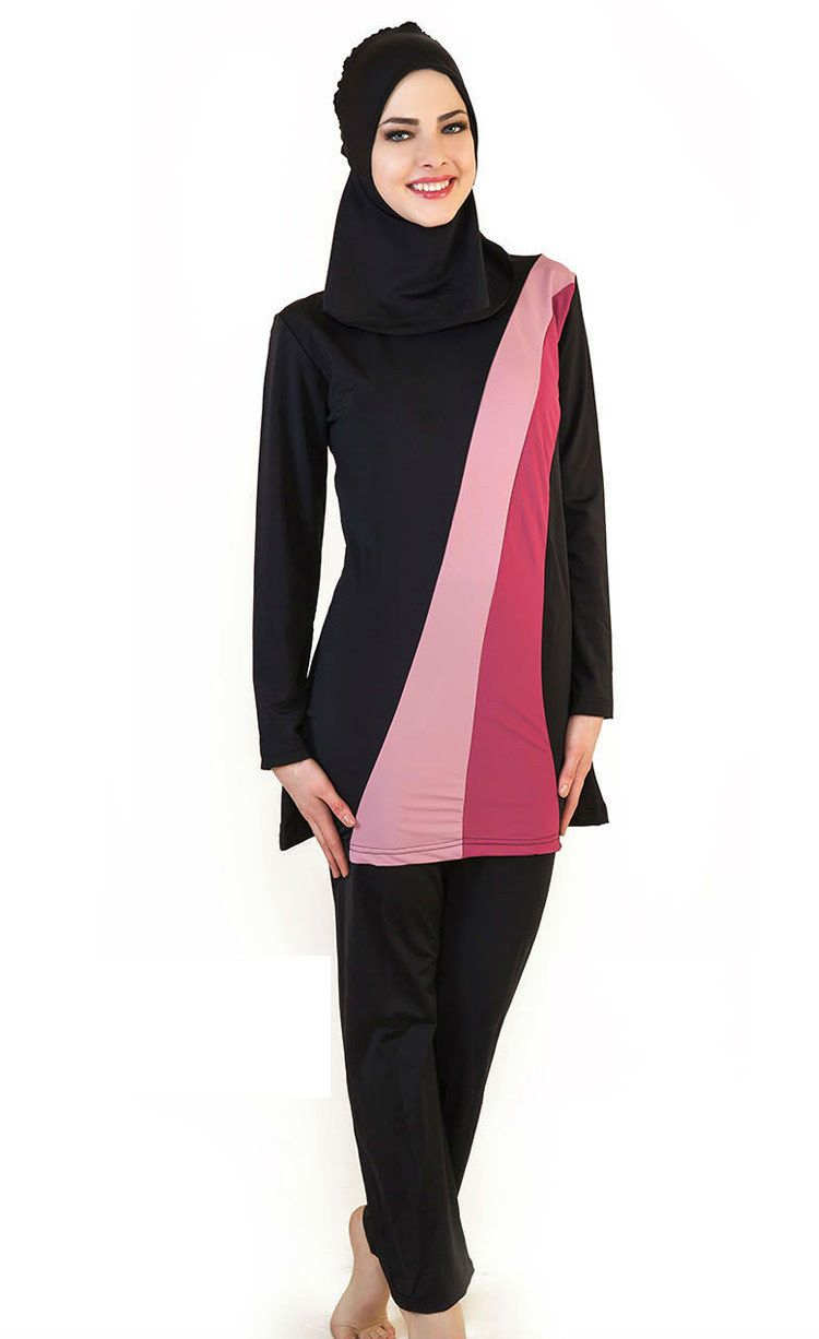 02272c0be5fa2 Modest Islamic Swimsuit Swimwear Burkini Muslim Beachwear Full Cover Costume