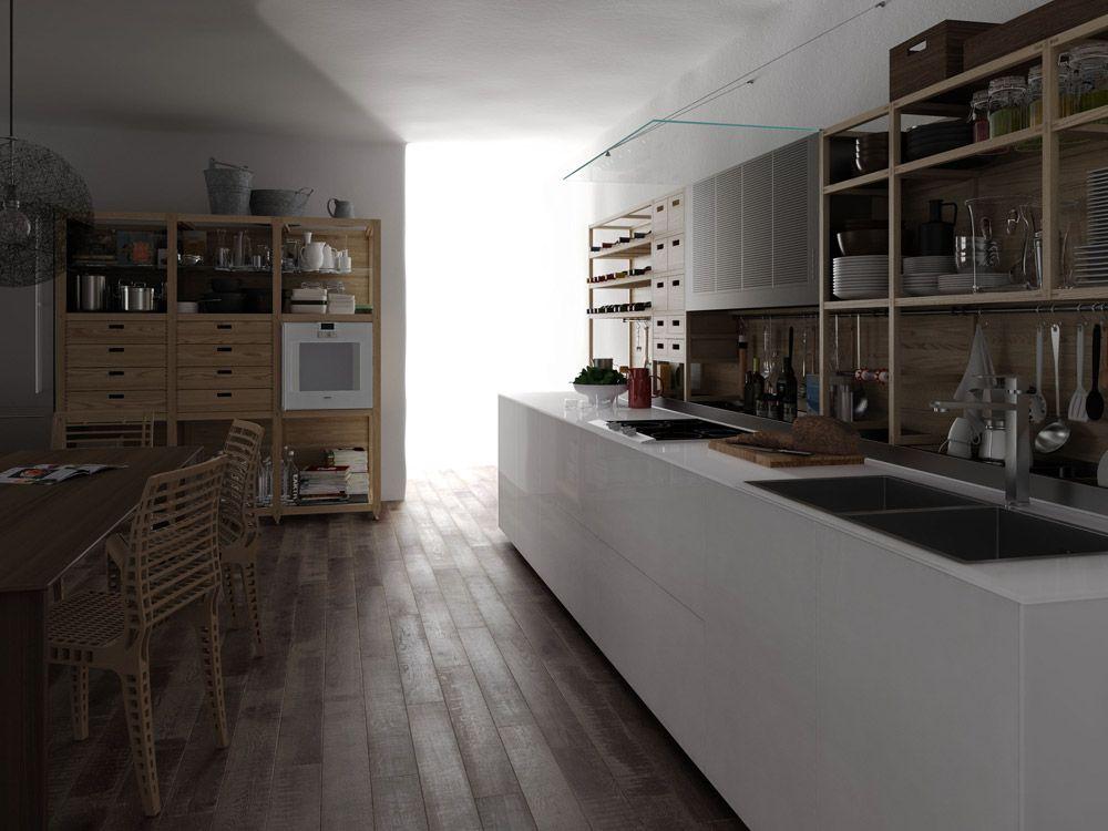 mobili per cucina: cucina artematica vitrum & sinetempore da, Kuchen