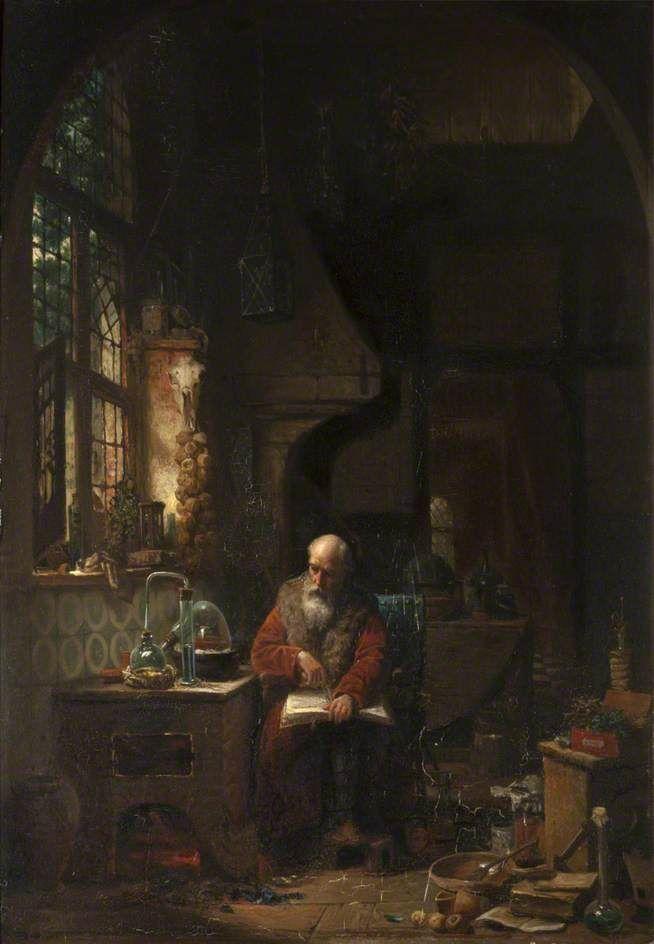 The Alchemist's Laboratory (unknown artist) University of St Andrews, UK