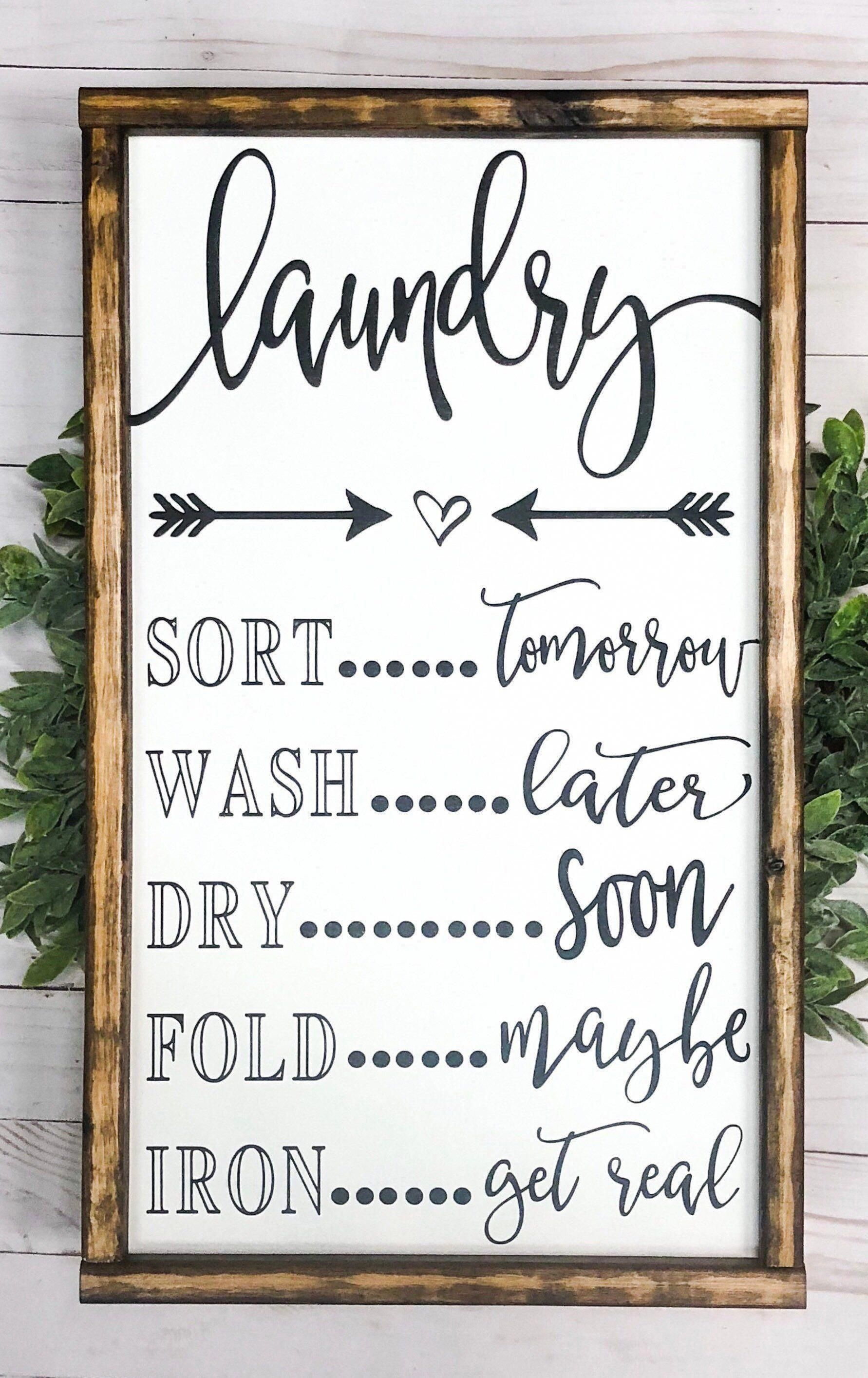 Signs With Quotes Farmhouse Decor Farmhouse Signs Etsy In 2020 Funny Kitchen Signs Country Farmhouse Decor Laundry Room Decor