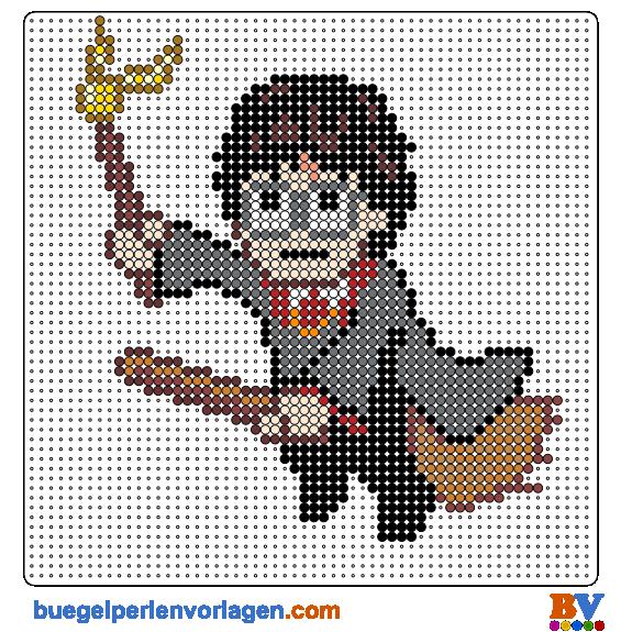 Harry Potter Bügelperlen Vorlage - perler bead pattern | HP Perler ...