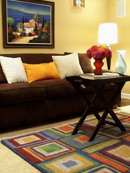 Color Watch Cozy Up With Brown Brown Sofa Design Contemporary Family Rooms Brown Sofa
