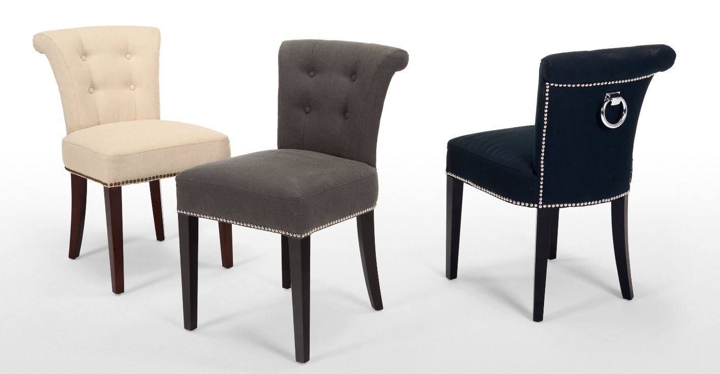 Upholstered dining chairs; a touch of beauty and coziness in dining ...
