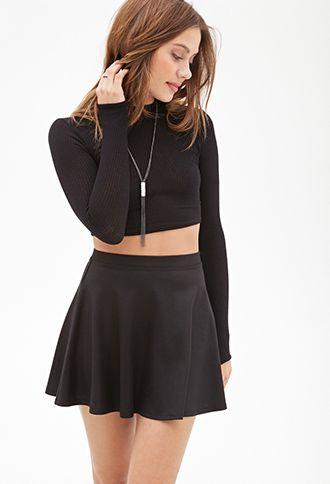 Sheeny Skater Skirt | Forever21 - 2000066931