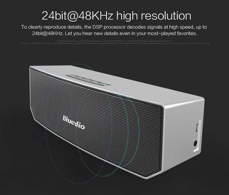 Portable Dual Power Drive Loudspeaker Wireless Bluetooth Bass Stereo Speakers