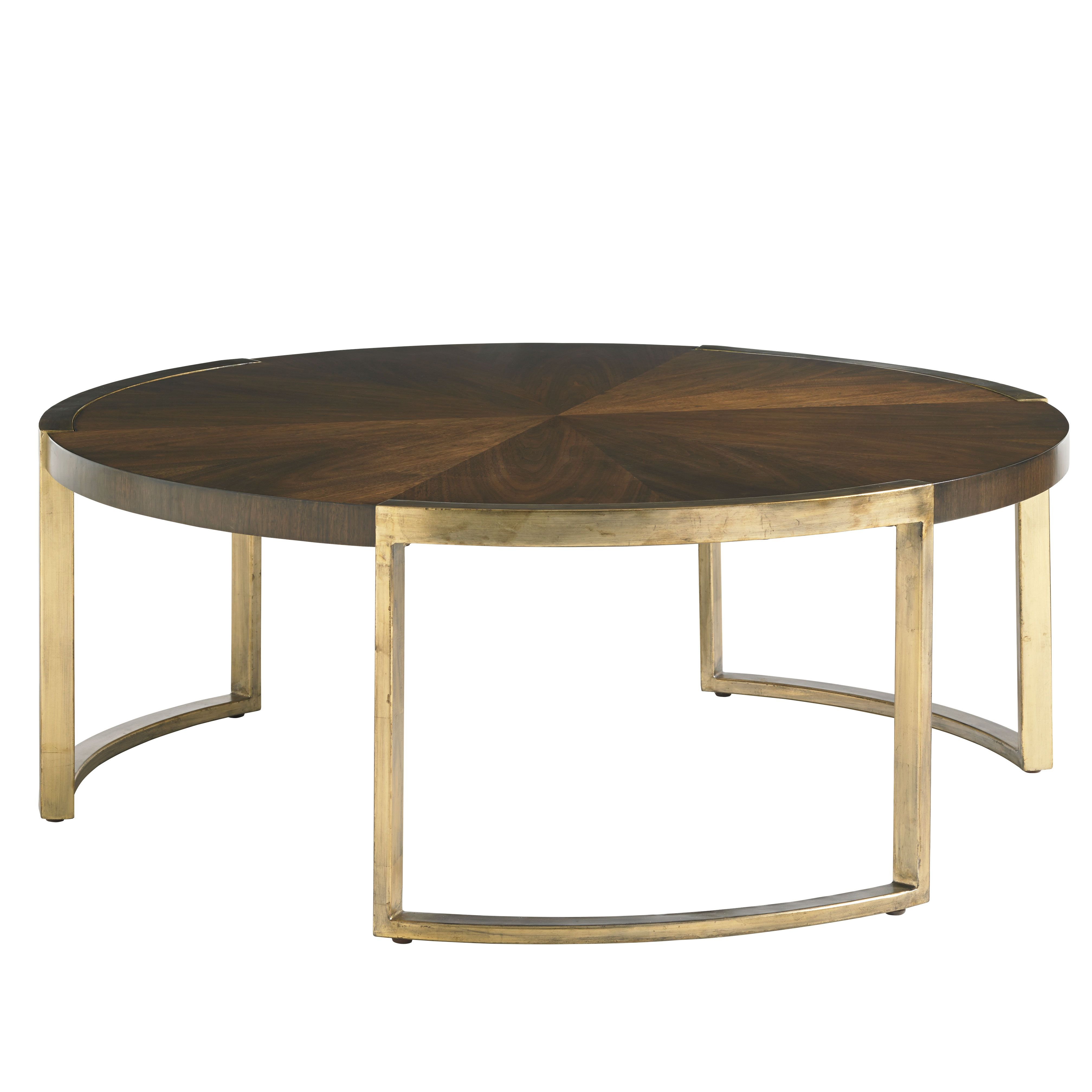 Chantal Modern Classic Walnut Gold Leaf Cocktail Table Eclectic Coffee Tables Table French Country Furniture [ 4030 x 4030 Pixel ]