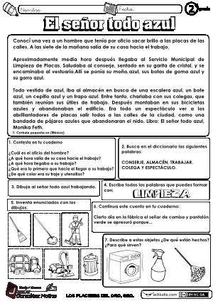 Lectura y comprensión para 2º (Actiludis)   Cuarto básico