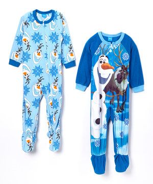 Another great find on #zulily! Blue Frozen Footie Set - Toddler by Frozen #zulilyfinds