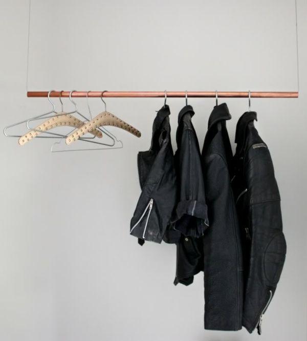 Kleiderständer Selber Bauen schlichte hängende kleiderständer selber machen kleiderschrank
