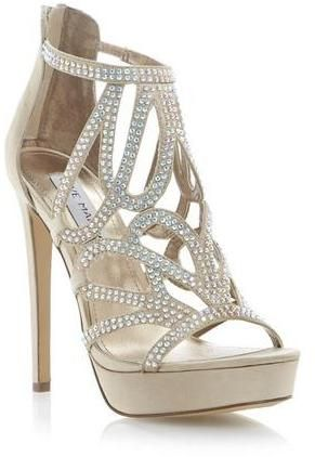 b55d0a4fdf1 STEVE MADDEN SINGER - CHAMPAGNE Diamante Strappy  Heels