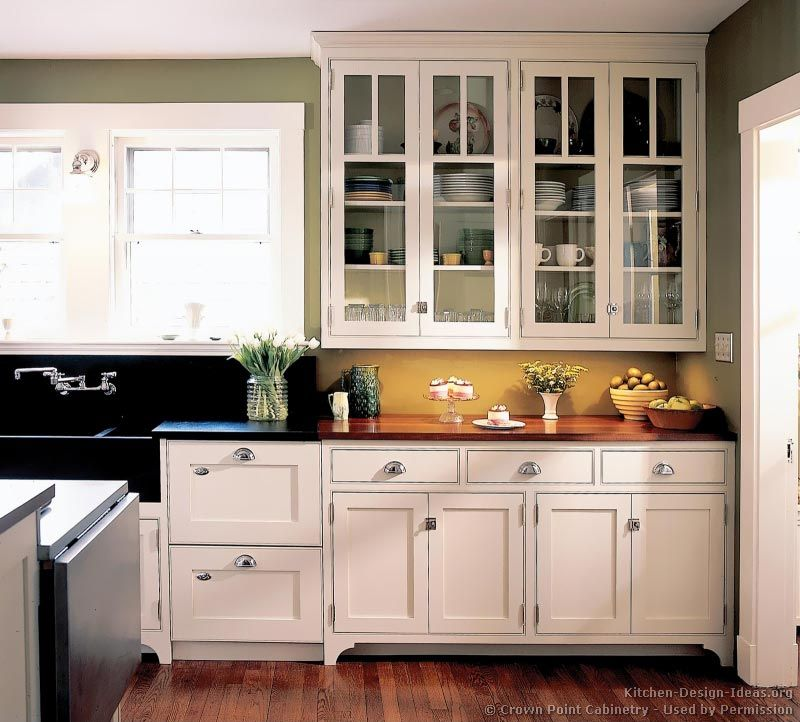 28 Antique White Kitchen Cabinets Ideas In 2019: Victorian Kitchen Cabinets #54 (Crown-Point.com, Kitchen