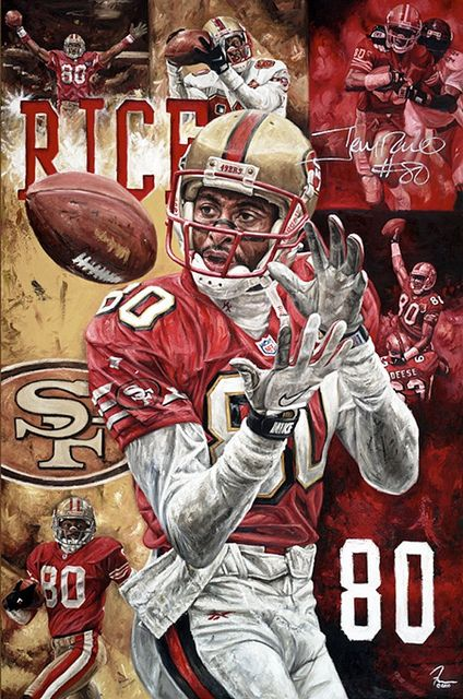 Jerry Rice By Justyn Farano San Francisco 49ers Football Sf 49ers 49ers Football