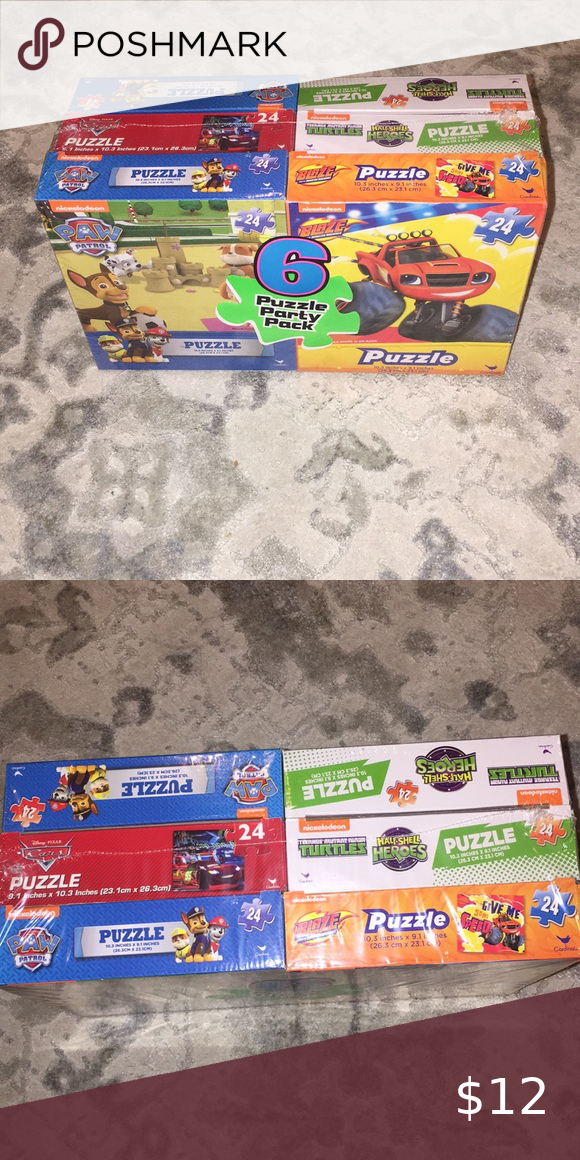 6 Puzzle Party Pack Puzzle Party Party Packs Blaze And The Monster Machine