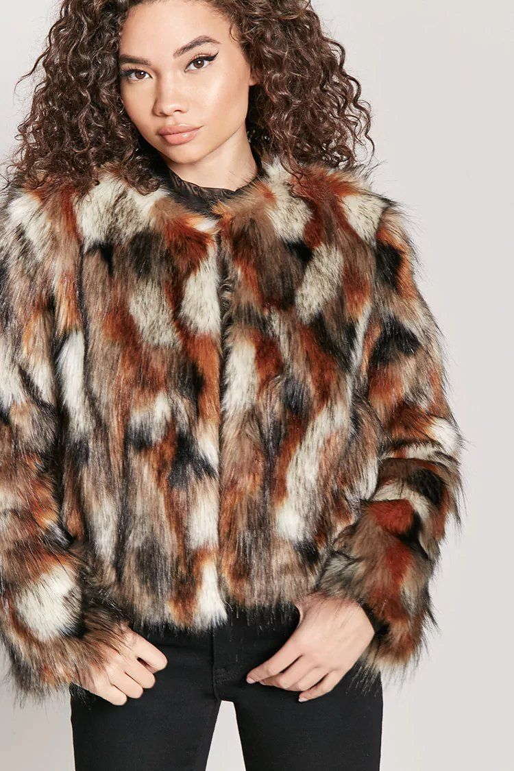 Product Name Multicolored Faux Fur Coat Category Outerwear Coats And Jackets Price 47 Multicolor Faux Fur Coat Faux Fur Full Length Coat Brown Faux Fur Coat [ 1125 x 750 Pixel ]