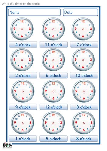 What\'s the time - o\'clock.pdf | preschool | Pinterest | Clocks and ...