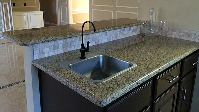 Tiger Skin Yellow Stone Type Kitchen Granite Countertop Counter