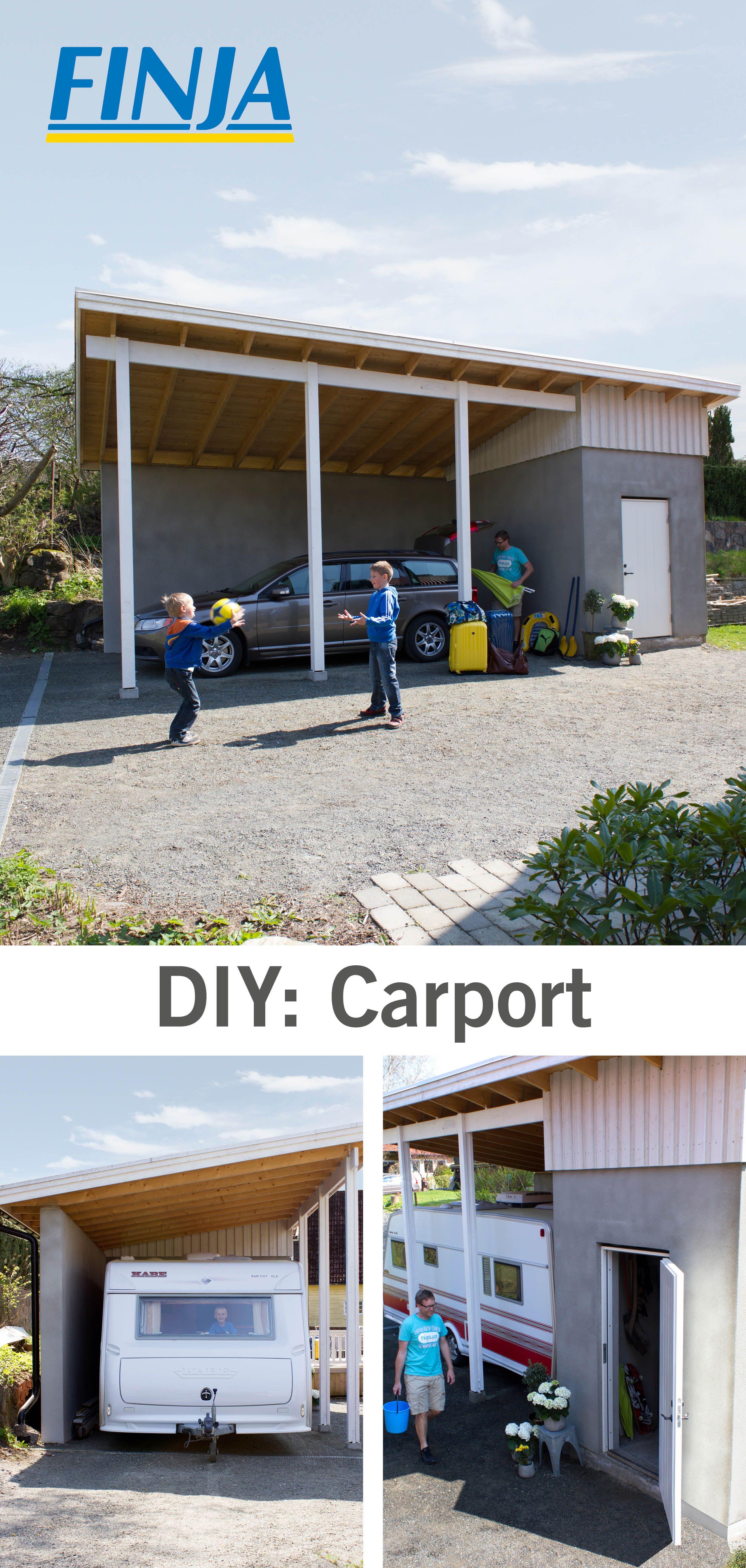 En plats för både bil, fordon eller husbil. Med en carport