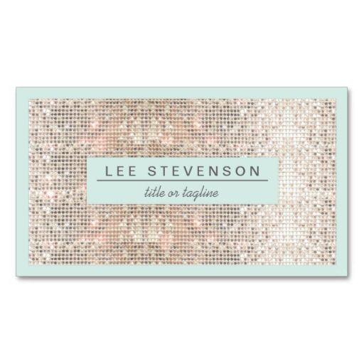 Faux silver sequins light blue business card business cards card faux silver sequins light blue business card colourmoves