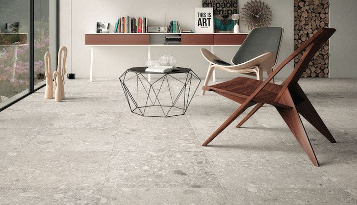 Granite and shell chair