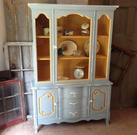 Kitchen Hutch French Country Painted Furniture Shabby Chic
