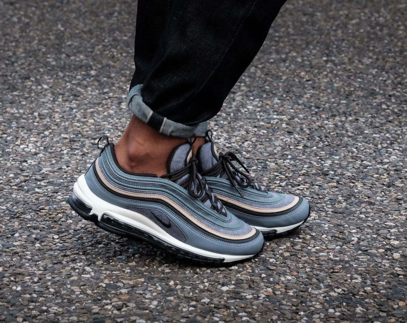 Nike Air Max 97 Premium Deep Pewter On Feet HYPEBEAST  HYPEBEAST