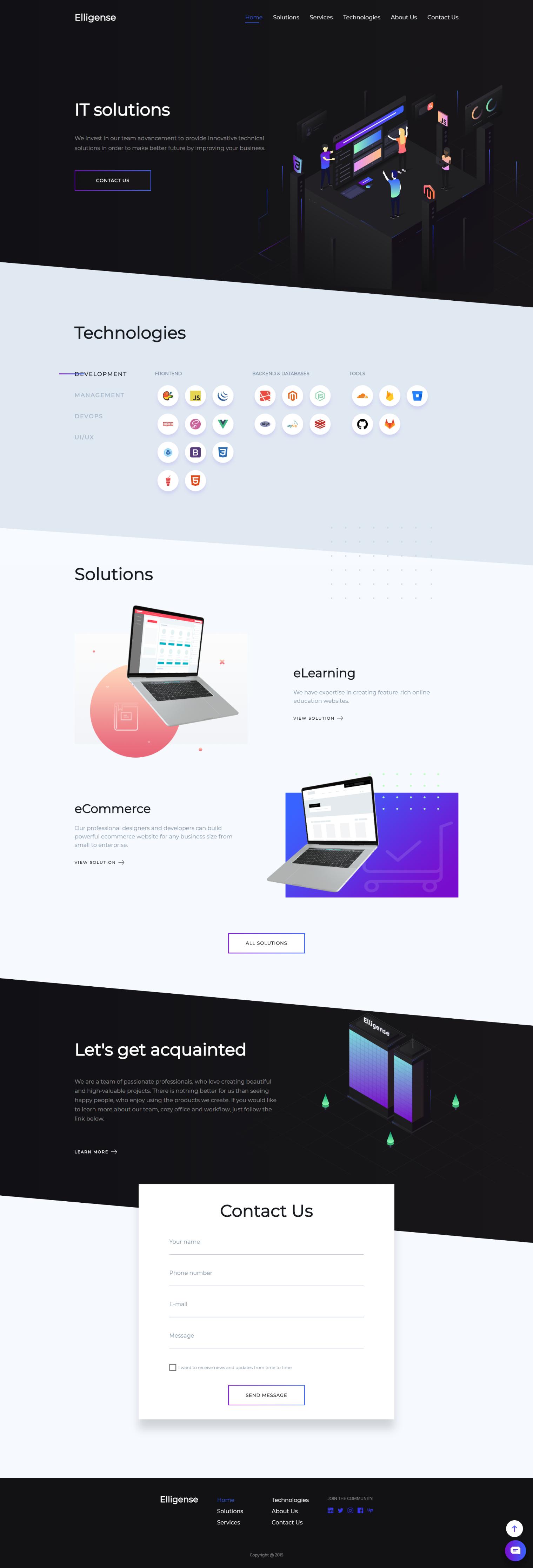 Modern Trendy And Fresh Landing Page Web Design Of Software Development Company Inspiration Idea In 2020 Corporate Website Design Web Design Business Web Design