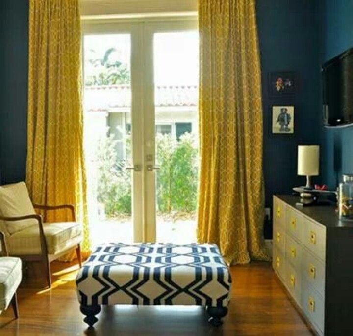 Blue And Yellow Kitchen Curtains: Color My World In 2019