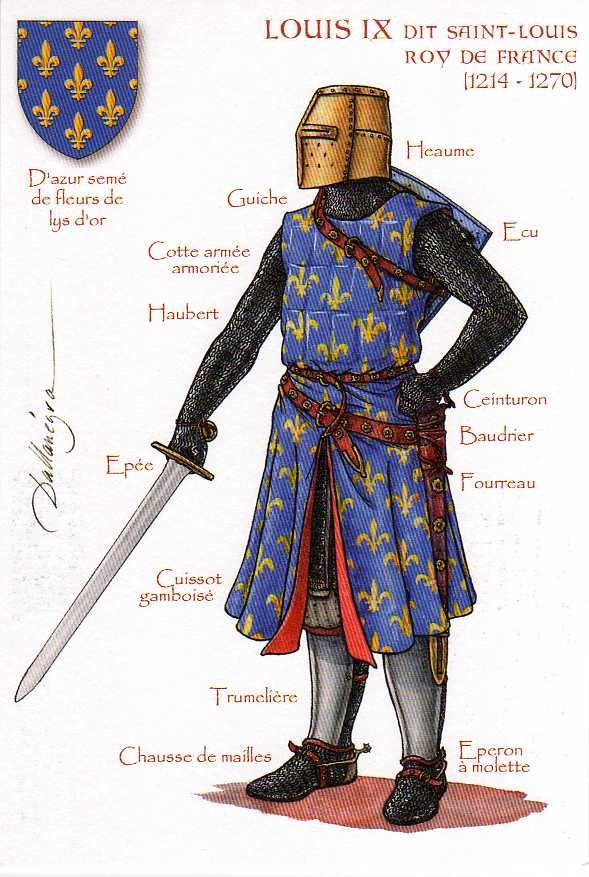 Louis Ix 25 April 1214 25 August 1270 Medieval Knight Medieval Armor Medieval History