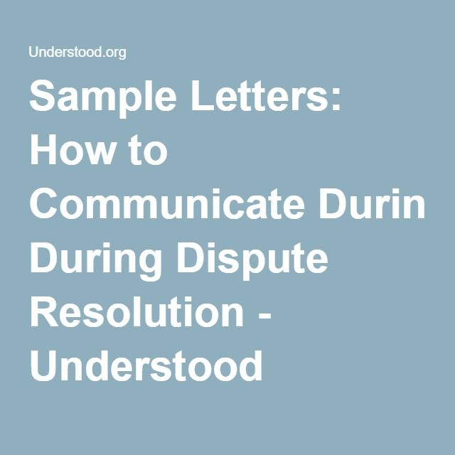 Download Sample Letters For Special >> Download Sample Letters For Dispute Resolution Special