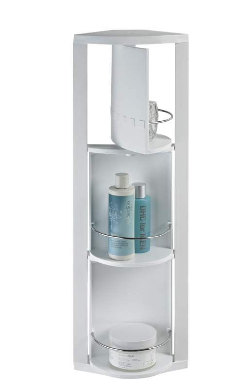 White Rotating Corner Bathroom Caddy Showerdrape Quebec image ...