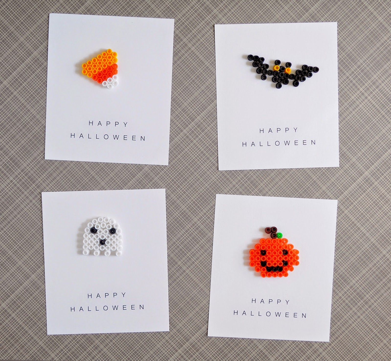 halloween party favors: perler beads + printable cards ...