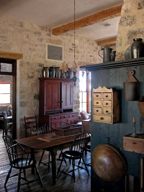 Dining Room, Rustic, Farmhouse, Primitive, Cottage
