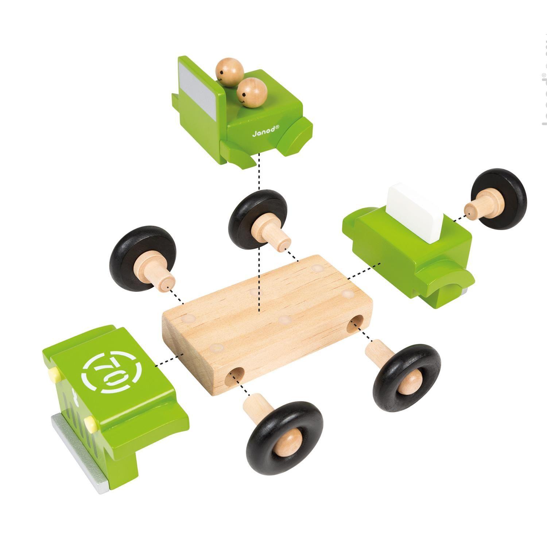 Magnetische 4X4 van JANOD voor kinderen vanaf 2 jaar