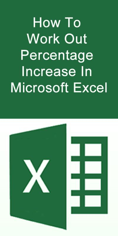 How to Work Out Percentage Increase in Microsoft Excel #Microsoft - free excel spreadsheet templates for small business