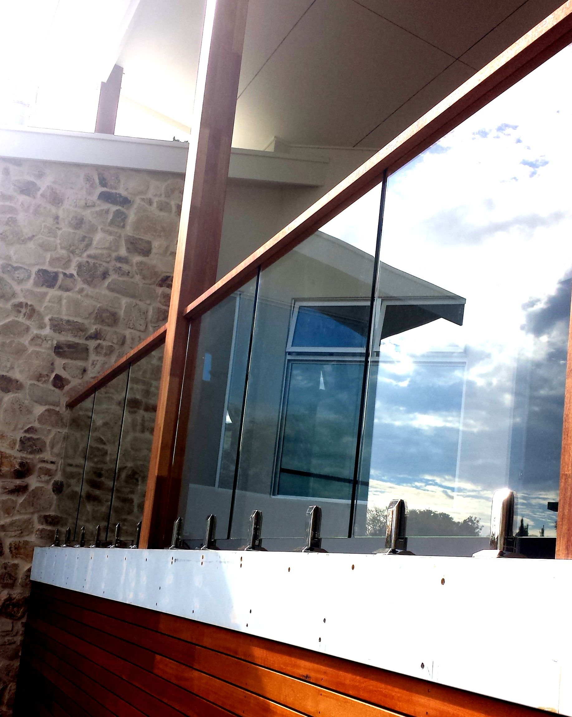 Glass Balustrades Adelaide Frameless Glass Timber Handrail Deck Railing Design Glass Balustrade