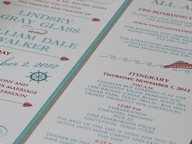 Wording Info Idea For Cruise Wedding Invitation Cruise Wedding