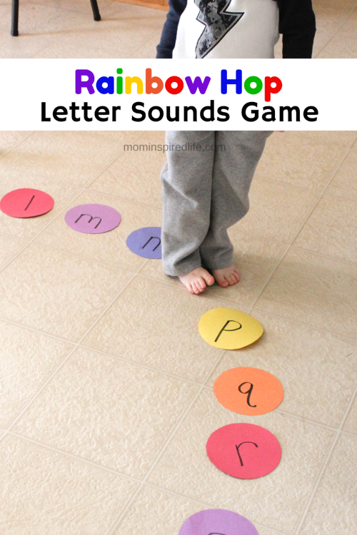 Rainbow Hop Letter Sounds Game  Alphabet Games Letter Sounds And