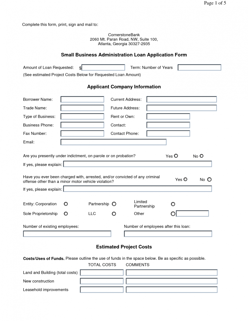 Printable Sample Business Proposal Template Form Forms And Free
