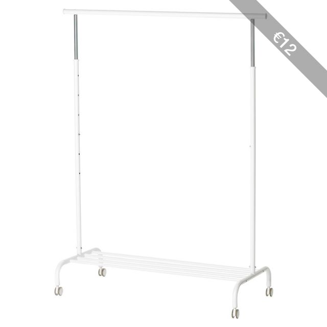Ikea Rigga Clothes Rack White With Images Diy Clothes