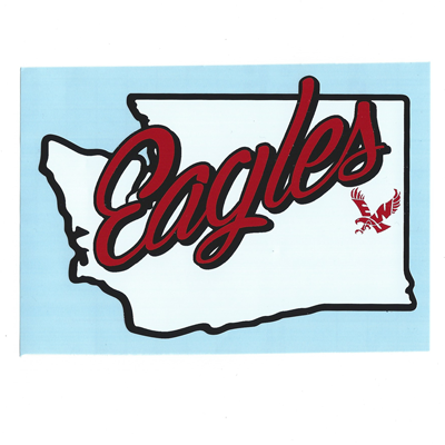 Eagles state decal School logos, Cheney, Decals