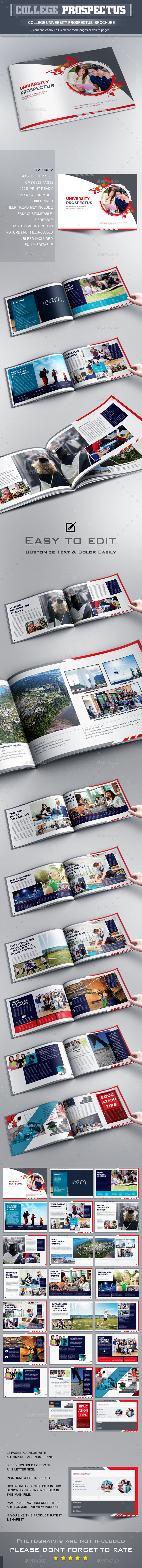 College University Prospectus Brochure Template – University Brochure Template