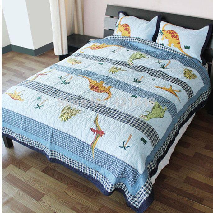 Animal Dinosaur Patchwork Quilt Bedding applique patchwork quilt ... : patchwork quilt twin - Adamdwight.com