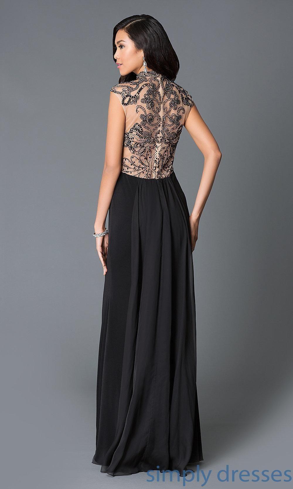 Jvn by jovani embellished back formal dress brought to you by