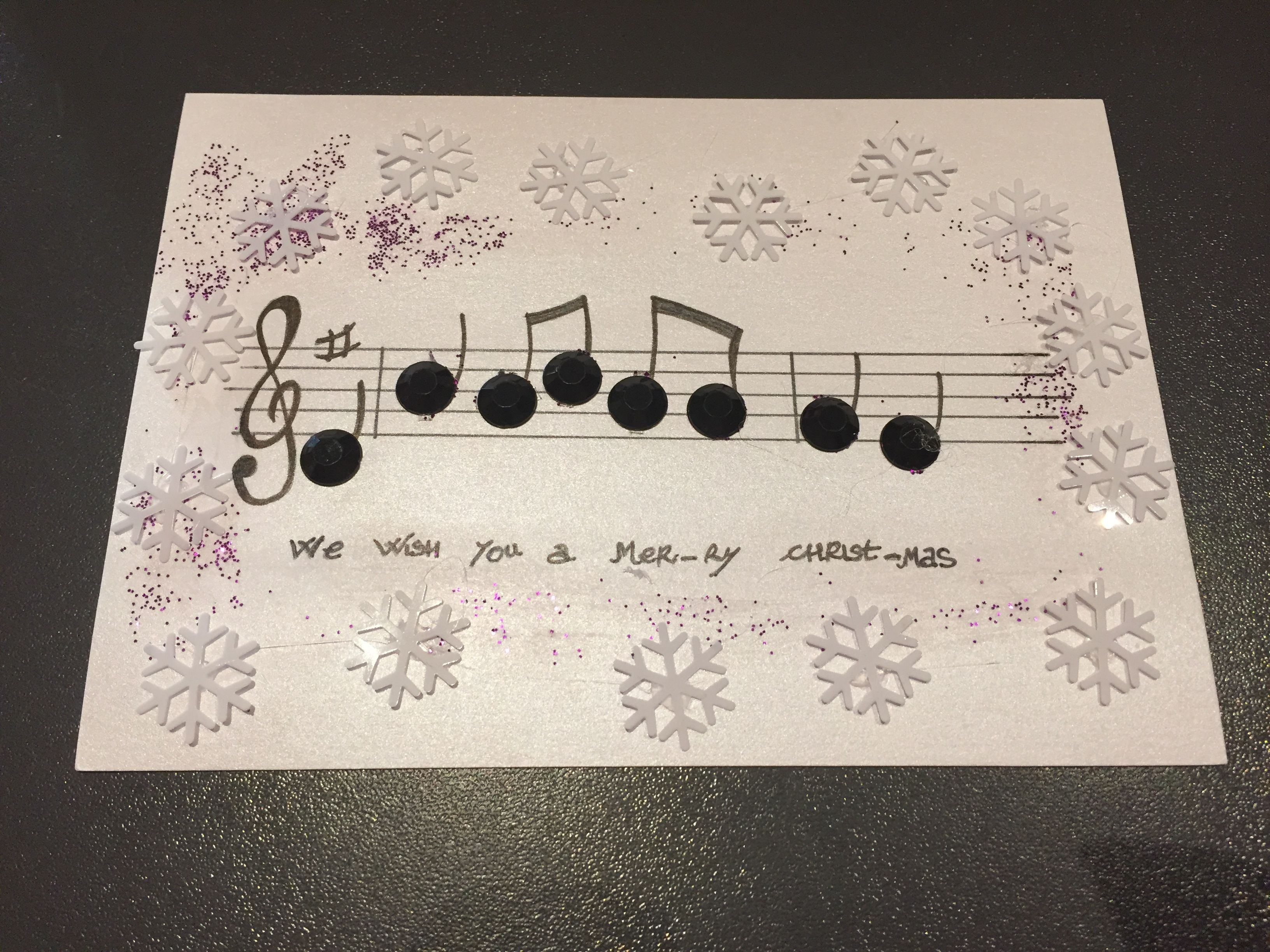 Buon Natale 4x4.Buon Natale Alla Maestra Di Musica Biglietti Di Auguri Natale