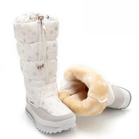 89aaf686175b Women boots winter shoes women platform thick plush warm waterproof high snow  boots botas mujer size 35-42