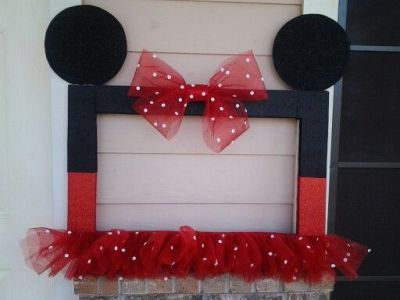 Frilly Mickey Mouse birthday photo frame  See more Mickey